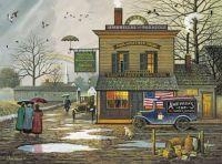Charles Wysocki - Dampy donuts on a Dreary Day
