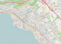 Map from Vevey, Switzerland
