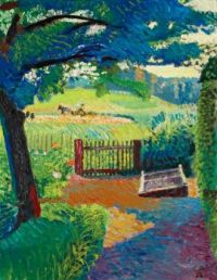 Cuno Amiet—Garden with a view of Oschwand, 1938
