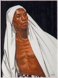 Winold Reiss (German/American, 1886–1953), Black Prophet (1925)