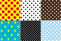 Polka Dot Squares (each square 7 x 7 pieces)