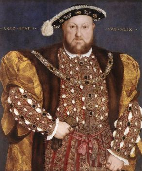 """Portrait of Henry VIII"" (1540) by Hans Holbein the Younger."