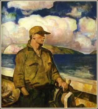 N.C. Wyeth, Young Maine Fisherman (1938)
