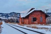 Old train station Sturgis,  South Dakota
