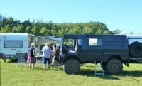 A 'dikke DAF' (big DAF), used as a camping car, but also to pull the caravan (the one you see there)