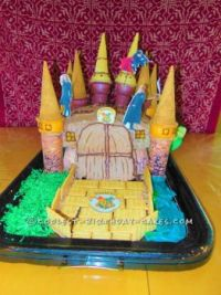 Hogwarts Ice Cream Cone Cake