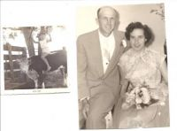 THEME:  Vintage Photos  Mom & Daddy at Uncle David's wedding and me riding Buttercup