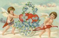 Vintage Valentine angels