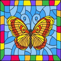 Bright butterfly picture