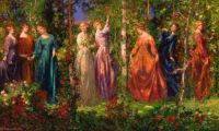 Thomas Edwin Mostyn- Gather Ye Rosebuds While Ye May