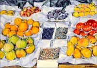 Still life; fruit displayed