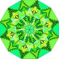 green mandala L