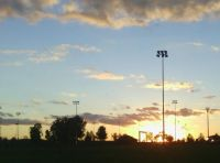 sunset at the sports park