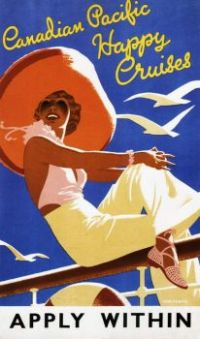 Vintage Travel Posters - Canadian Pacific Happy Cruises