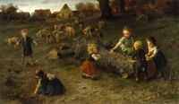 """Mud Pies"" by Ludwig Knaus, 1873"