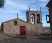 Medieval church in a Portuguese village