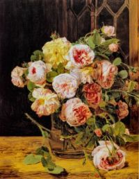 Bouquet of Roses at the Window