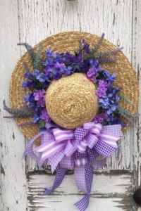 Lilac  and Lavender Sraw Hat
