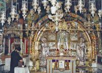 A 104, scene 6, inside Church oft he Holy Sepulcher, Old Walled City, Jerusalem, 199 Israel trip