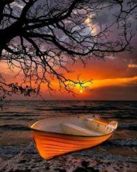 At sunset rest