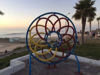 Sculpture on Tijuana beach