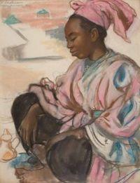 Zinaida Serebriakova, Russian (1884-1967), Girl in Pink, Marrakech,