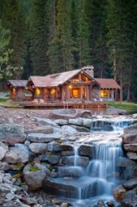 Waterfall House, Big Sky, Montana  4171