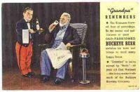 Buckeye beer postcard