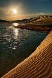 Lake & Sand Dune Sunrise