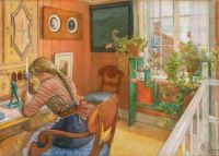 "Carl Larsson, ""Letter Writing"""