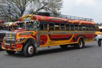 Guatemala chicken bus 2019