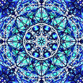 Blue and white Kaleidoscope