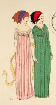 Edwardian Ladies Fashion Plate c.1908