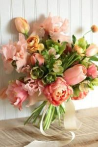 Happiness  is.....Spring Bridal Bouquet!