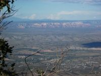 Looking NE toward Sedona from atop Mingus Mtn.
