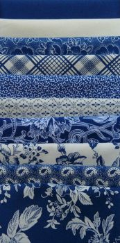Blue and White Fabrics