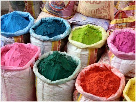 Indian Pigments for Holi