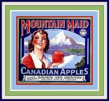 Canadian  Vintage Fruit Crate Labels