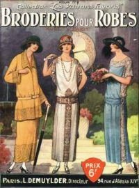 Vintage Fashion - Needlecraft - Broderies Pour Robes