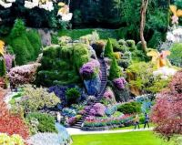 Butchart Gardens, A group of floral display gardens in Brentwood Bay, British Columbia, Canada