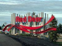 Welcome sign Red Deer, Alberta
