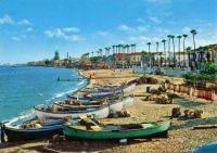 Larnaca, Cyprus. Old postcard from 1950s