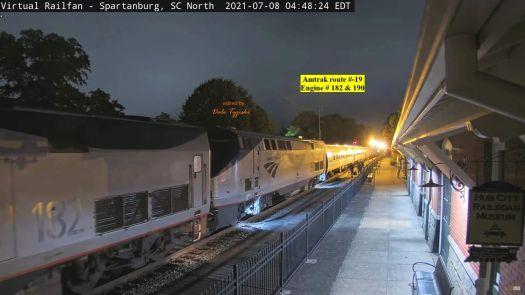 SPAR Amtrak-19 182 & 190