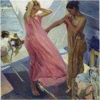 Après le bain (1916) Joaquin Sorolla