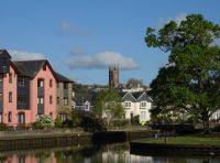 Totnes from the River Dart