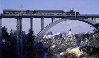 Most přes Lužnici v Bechyni