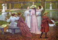 Theo van Rysselberghe--A Reading in the Garden, 1902