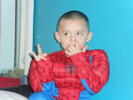 Spiderman Andre picking his nose