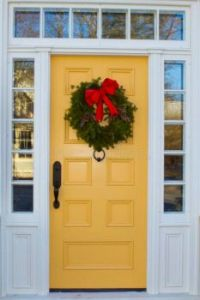 Yellow Door and Wreath