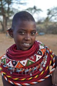 Samburu Kenyan woman